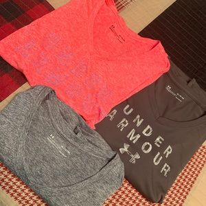 Under Armour (lot of 3) dri-fit T-shirts.